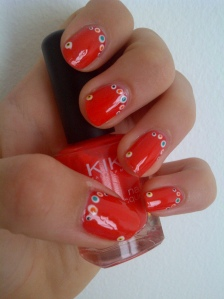 point red nail art