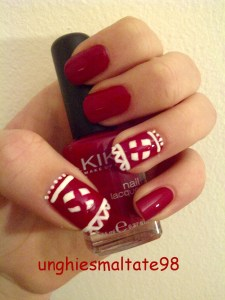 christmas edition nail art