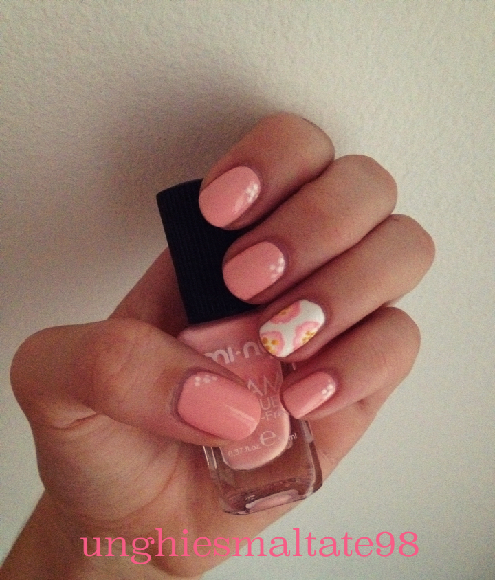 Sweet Pink Flowers Nail Art Beauty Nails Blog
