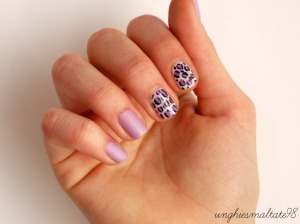 Matte and violet nail art + super news!