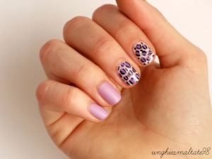 Matte and violet nail art + super news