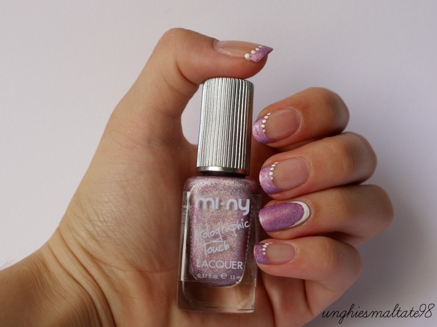 Holographic french manicure - Official Blogger MI-NY