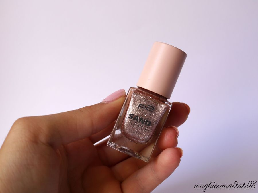 Let's try it: Pink and Glitter Manicure with p2 cosmetics