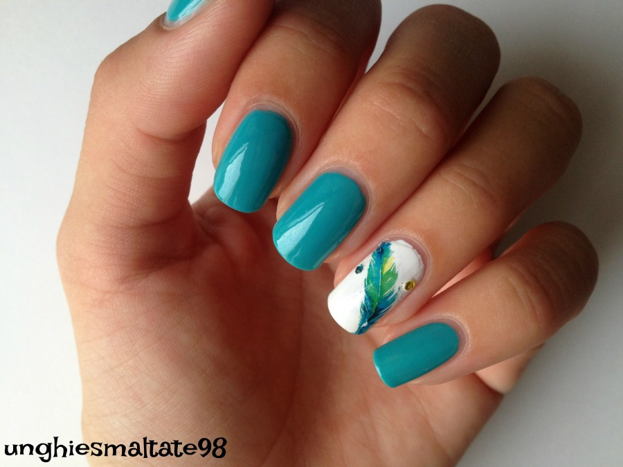 feather nail art 2