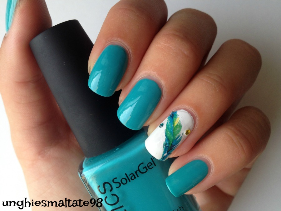 feather nail art 4