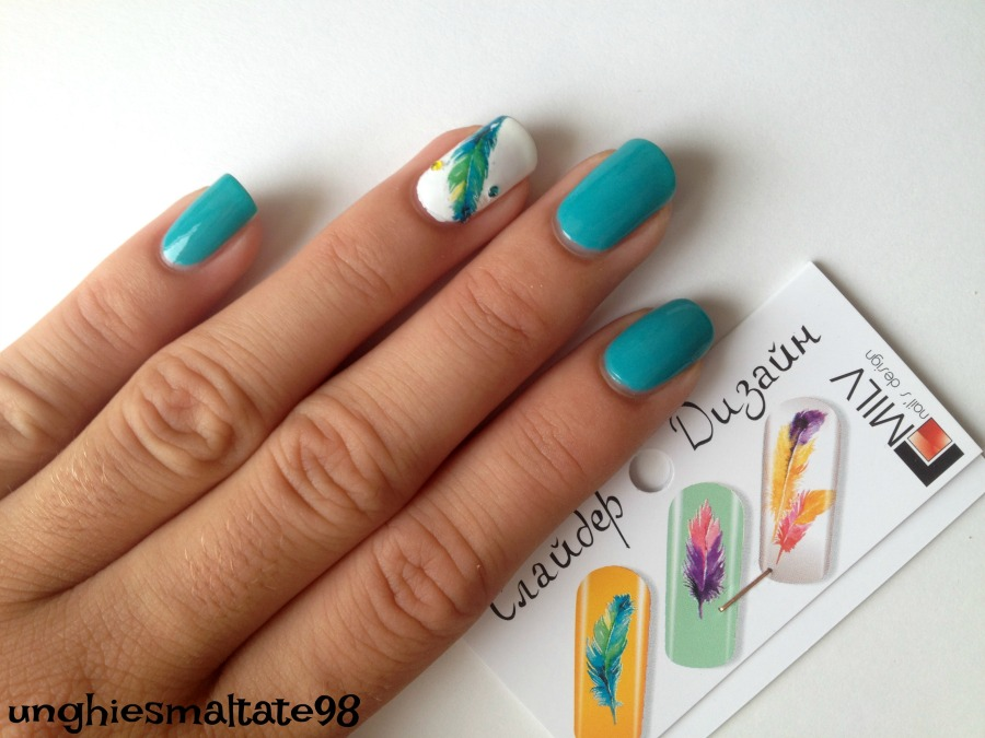 feather nail art 5